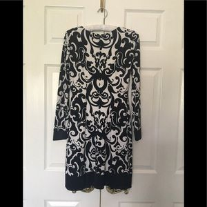 "Cach'e dress 2 black & white lined 31""bust34""long"